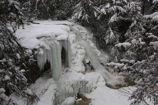 Swallow Falls State Park Wall Art - Photograph - Frozen Muddy Creek Falls by Bob Carney