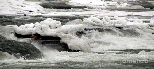 Photograph - Frozen Niagara River Rapids Above Niagara Falls by Rose Santuci-Sofranko