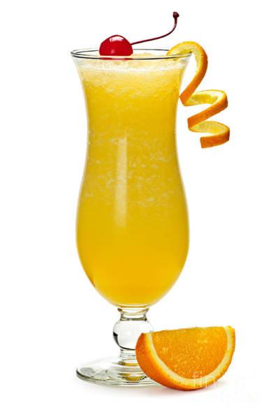 Wall Art - Photograph - Frozen Orange Drink by Elena Elisseeva