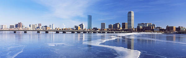 Harvard University Photograph - Frozen Over Charles River With Harvard by Panoramic Images