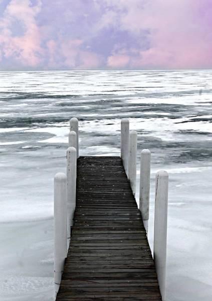 Photograph - Frozen Pier by Rebecca Frank