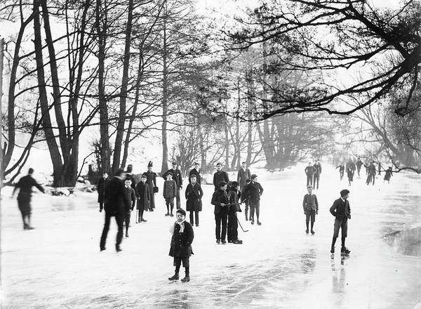 1894 Photograph - Frozen River Cherwell In The Winter Of 1894-5 by Oxford University Images/science Photo Library