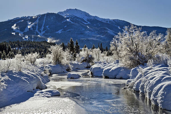 Photograph - River Of Golden Dreams In Winter by Pierre Leclerc Photography