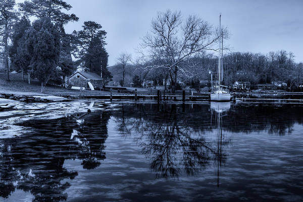 Photograph - Frozen Sailboat And Cloudy Ice by Dennis Dame