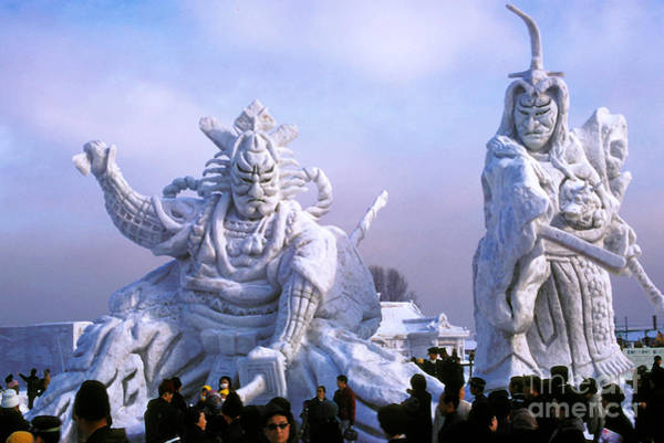 Ice Carving Photograph - Frozen Samurai Warriors by Bob Phillips