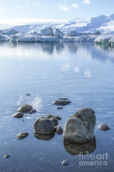Lake Shore Wall Art - Photograph - Frozen Serenity by Evelina Kremsdorf