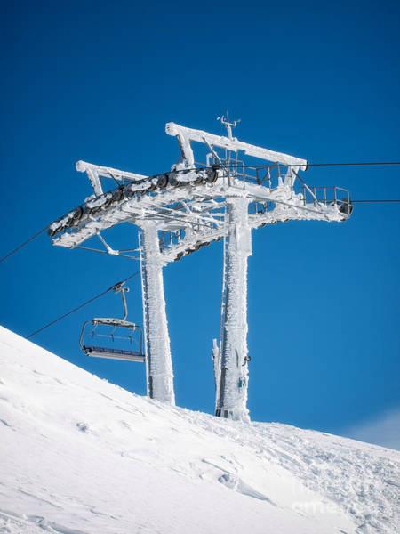 Ropeway Photograph - Frozen Ski Lift by Sinisa Botas