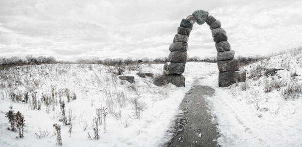 Stone Arch Photograph - Frozen Stone Arch by Scott Norris