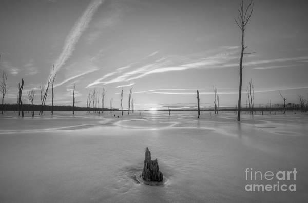 D800 Photograph - Frozen Sunrise V2 Bw by Michael Ver Sprill