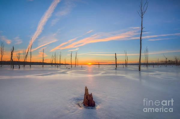D800 Photograph - Frozen Sunrise V2 by Michael Ver Sprill