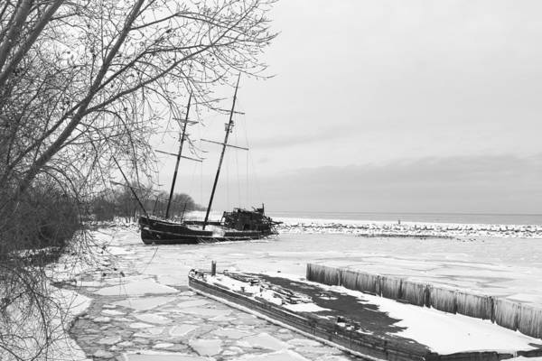 Photograph - Frozen Tall Ship by Nick Mares