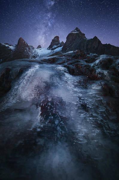 Milky Way Photograph - Frozen Time by Chris Kaddas