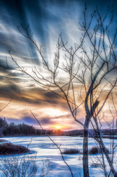 Photograph - Frozen Winter Sunset by Beth Sawickie