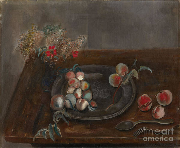 Painting - Fruit And Flowers On A Table by Celestial Images