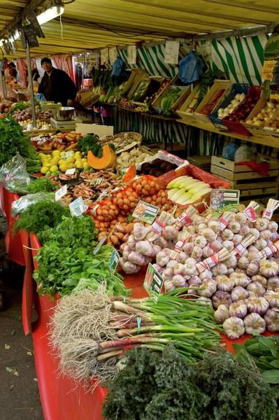 Foodstuff Photograph - Fruit And Veg Market by Bob Gibbons