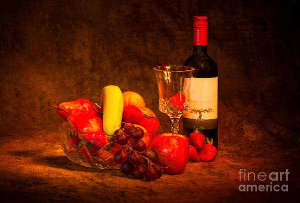 Photograph - Fruit And Wine by Les Palenik