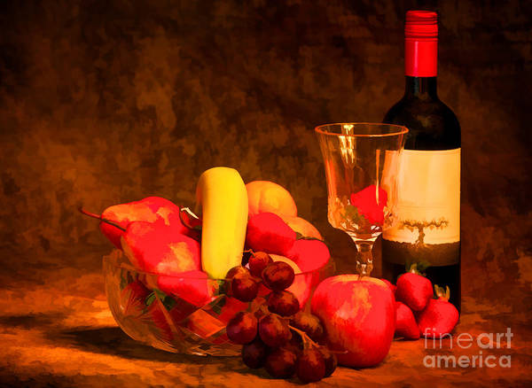 Photograph - Fruit And Wine - V2 by Les Palenik
