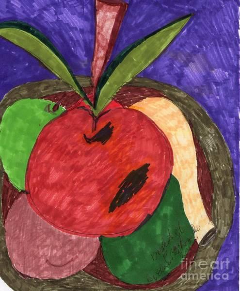 Avocado Mixed Media - Fruit Basket by Elinor Helen Rakowski