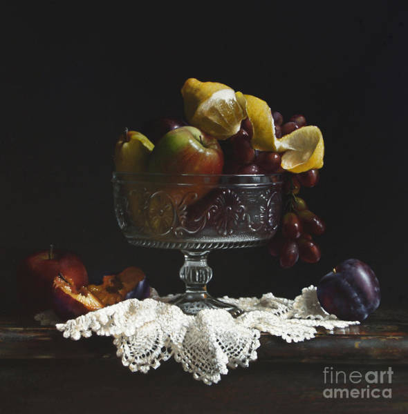 Wall Art - Painting - Fruit Bowl by Lawrence Preston