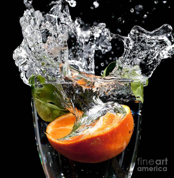 Wall Art - Photograph - Fruit Drop With Big Splash by Simon Bratt Photography LRPS