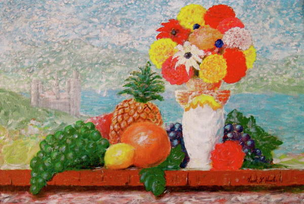Painting - Fruit Flowers And Castle by Frank Hunter