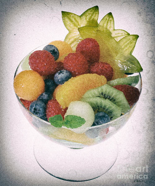 Wall Art - Photograph - Fruit Salad Cup Disteressed by Iris Richardson