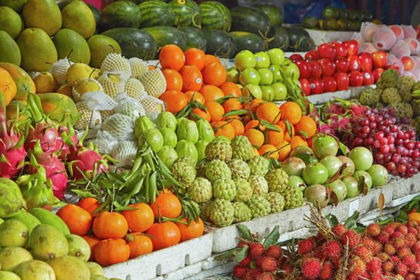 Hoi An Photograph - Fruit Stall, Central Market, Hoi An by David Wall