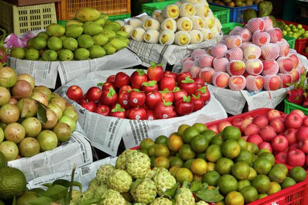 Wall Art - Photograph - Fruit Stall, Dong Ba Market, Hue, Thua by David Wall