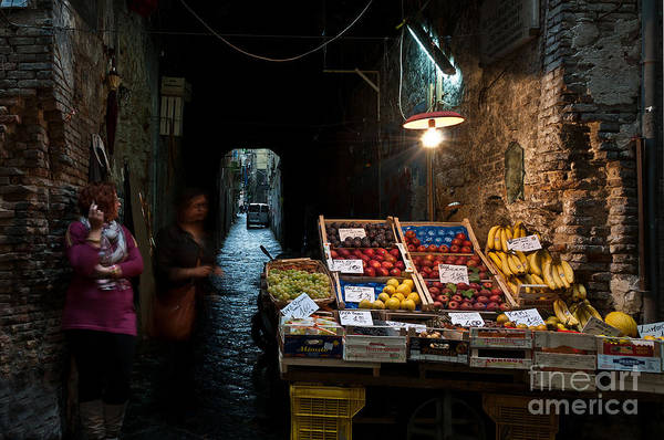 Naples Photograph - Fruit Stall by Marion Galt
