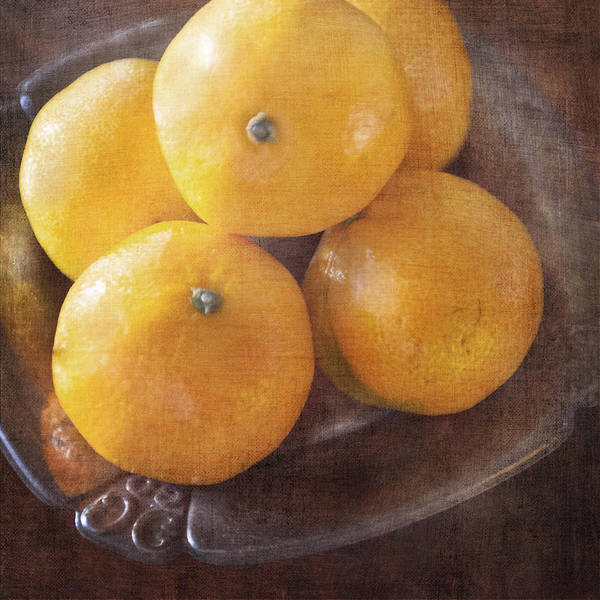 Photograph - Fruit Still Life Oranges And Antique Silver by Renee Hong