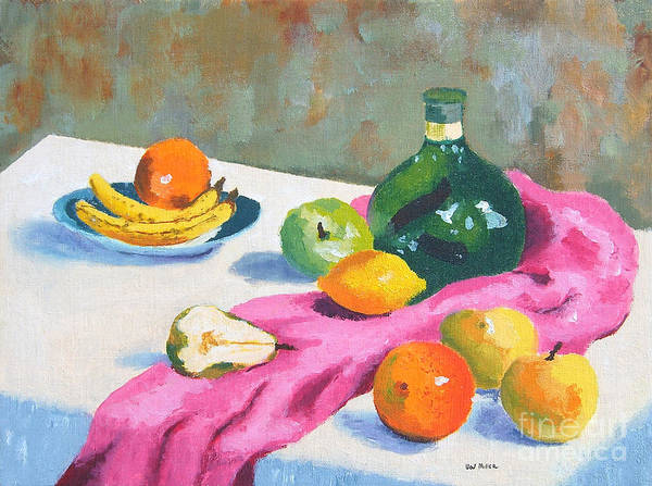 Glass Cutting Painting - Fruit Still Life by Val Miller