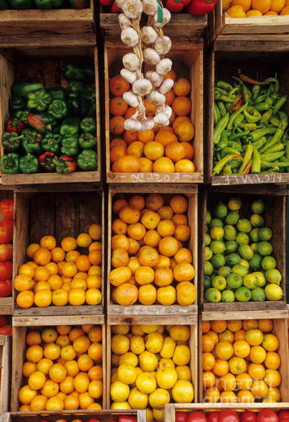 Montevideo Photograph - Fruits And Vegetables In Open-air Market by William H. Mullins