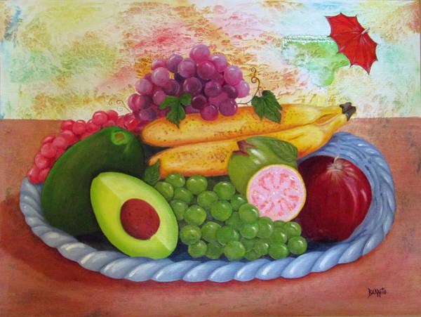 Manzana Wall Art - Painting - Fruits Delight by Gloria E Barreto-Rodriguez