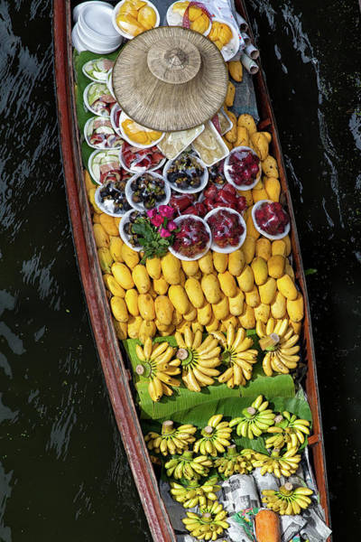 Mangos Photograph - Fruits In A Boat On A Floating Market by Rogdy Espinoza Photography