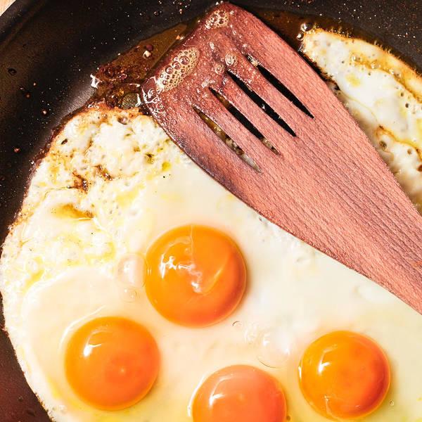 Yolk Wall Art - Photograph - Frying Eggs by Tom Gowanlock