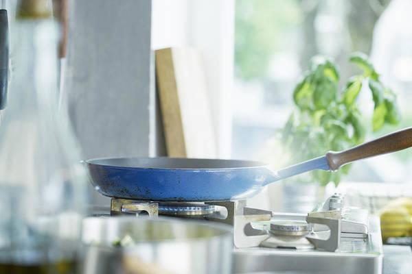 Frying Pan On Lit Hob Art Print by Ingolf Hatz