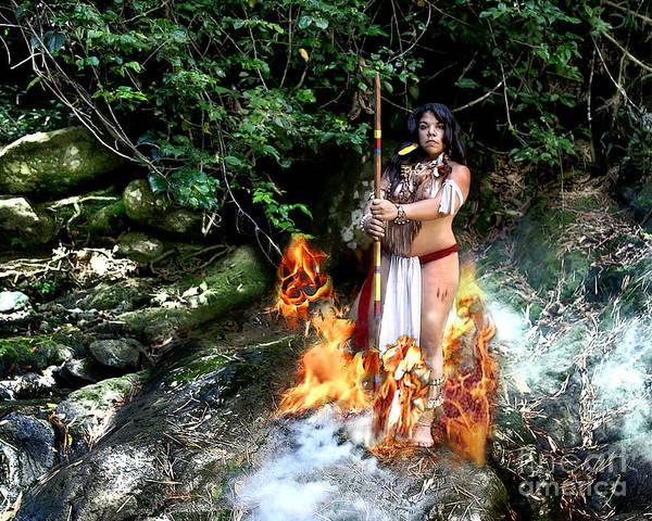Fuego Y Humo Art Print