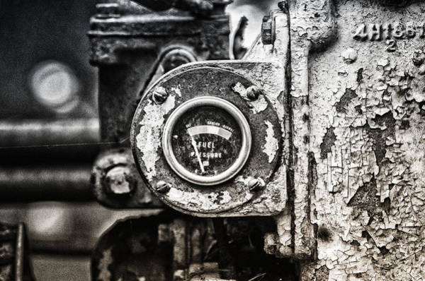 Bulldozer Photograph - Fuel Deficient by Susan Capuano
