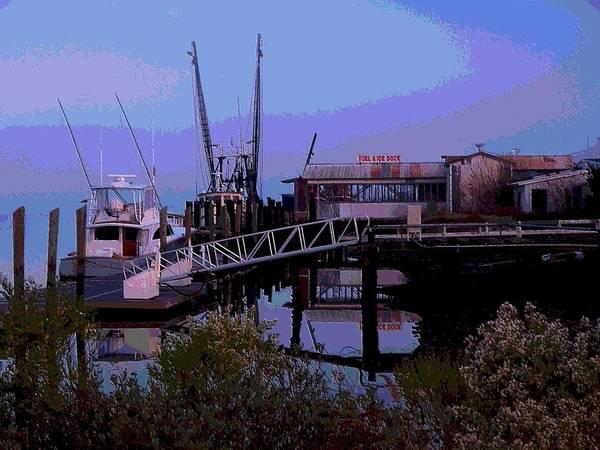 Jekyll Island Painting - Old Brunswick Fuel Dock by Laura Ragland