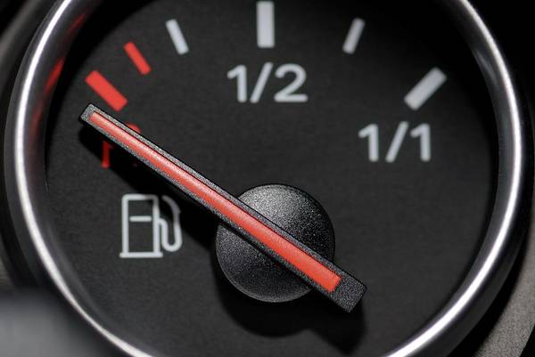 Dials Photograph - Fuel Gauge On Empty by Bildagentur-online/ohde/science Photo Library