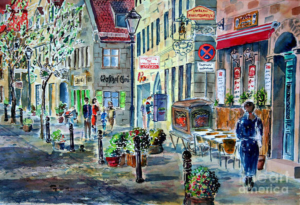 Wall Art - Painting - Fuerth Gustavstrasse II by Almo M