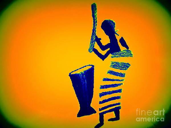 Ghana Painting - Fufu by Deborah Selib-Haig DMacq