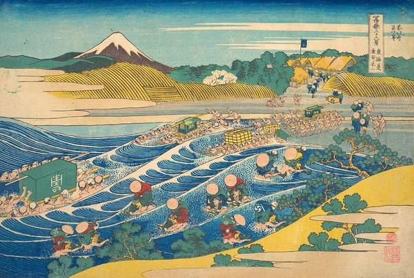 Thirty-six Views Of Mount Fuji Wall Art - Painting - Fuji Seen From Kanaya On The Tokaido by Katsushika Hokusai