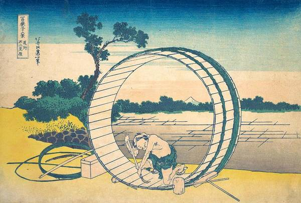 Thirty-six Views Of Mount Fuji Wall Art - Painting - Fujimigahara In Owari Province by Katsushika Hokusai