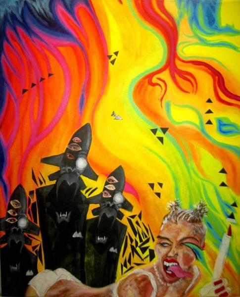 Miley Cyrus Wall Art - Painting - Fukushima Syria Cyrus by Art JWB