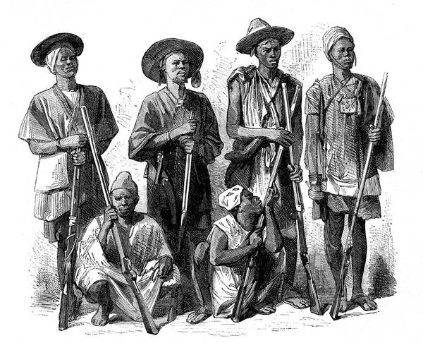1889 Photograph - Fula Hunters by Collection Abecasis