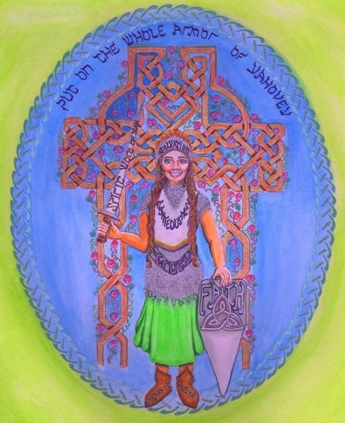 Full Armor Of Yhwh Woman Art Print