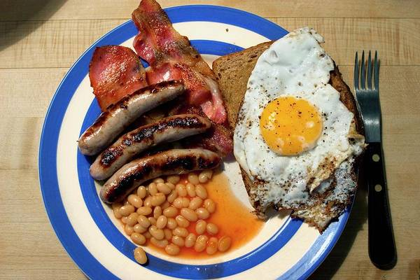 British Food Photograph - Full English Breakfast by Peter Menzel/science Photo Library