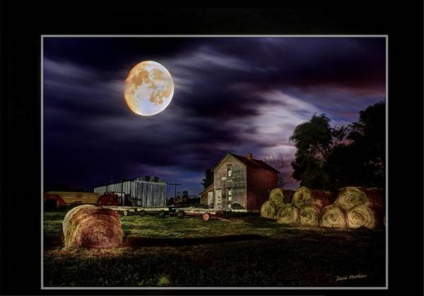 Photograph - Full Farm Moon by David Matthews