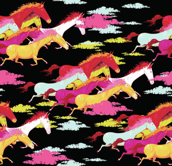 Full Length Digital Art - Full Frame Pattern Of Multicolored by Andy Ward